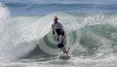 Manhattan Beach Surfing Editorial Stock Image
