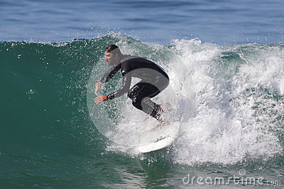 Manhattan Beach Surfing Editorial Photo