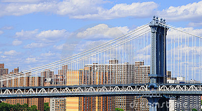 Manhattan Bridge And Lower East Side Stock Photo - Image: 12997590