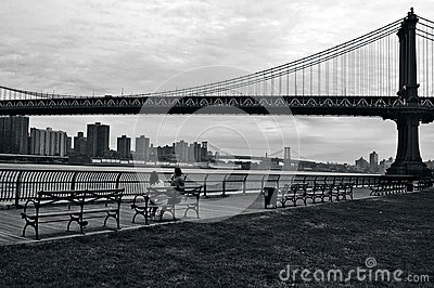 Manhattan Bridge in Manhattan New York City Editorial Image