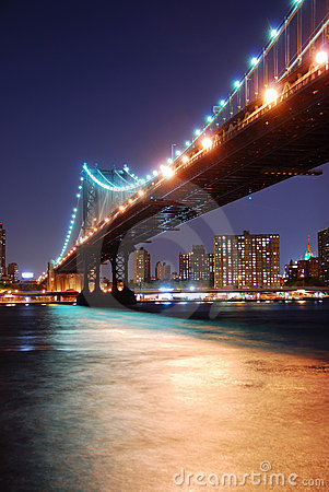 Manhattan Bridge over Hudson River