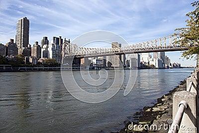 Manhattan East side and Queensboro bridge