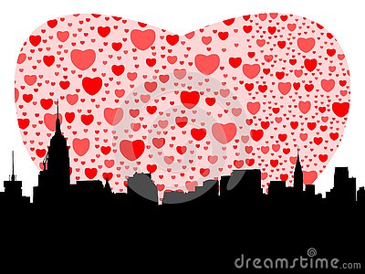 Manhattan with hearts