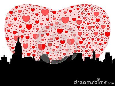 Manhattan with hearts