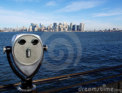 Manhattan Island from Liberty Island