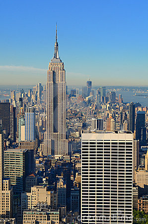 Manhattan Island Skyline Editorial Image
