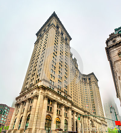 Free Manhattan Municipal Building In New York City, USA Stock Image - 95474741
