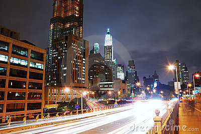 Manhattan night view, New York City