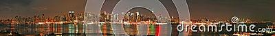 Manhattan panaroma skyline