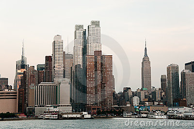 Manhattan Skyline Editorial Stock Photo