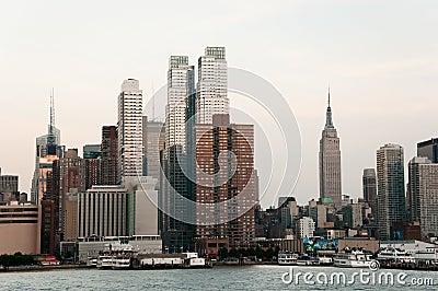 Manhattan Skyline Editorial Stock Photo