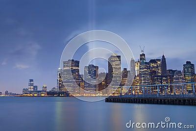 Manhattan Skyline. Editorial Photo