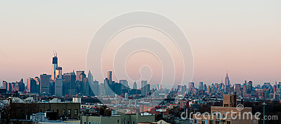 Manhattan Skyline Editorial Image