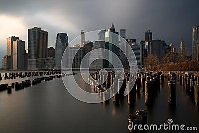 Manhattan Skyline from Brooklyn Bridge Park