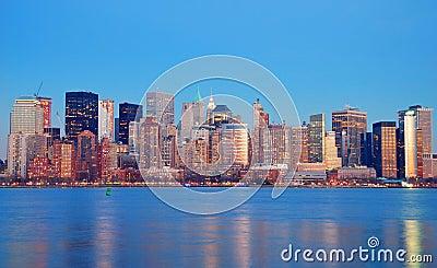 Manhattan Skyline at dusk, New York City