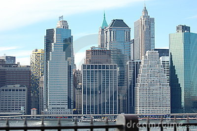 Manhattan Skyline, New York City Editorial Stock Image