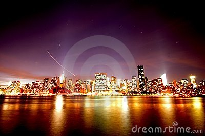 Manhattan Skyline at Night