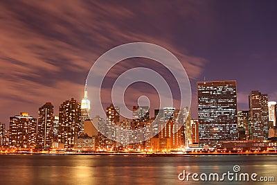 Manhattan skyline at Nights