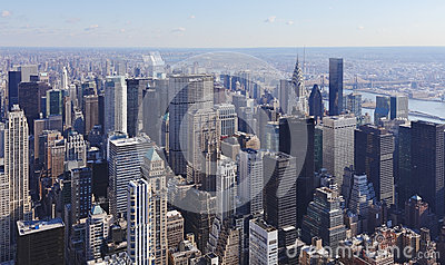 Manhattan Skyline NYC Editorial Image