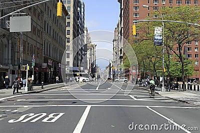 Manhattan street Editorial Stock Photo