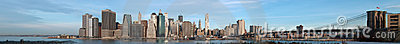 Manhattan Sunrise Panorama New York USA