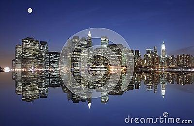 Manhattan under the moonlight