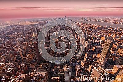 Manhattan van de binnenstad