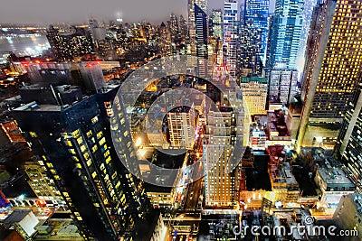 Manhattan vid natt