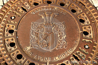 Manhole in Leipzig