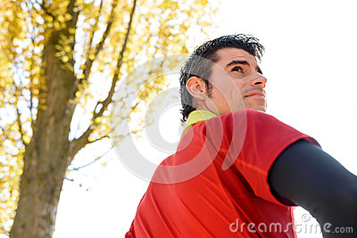 Manhood of handsome sportsman