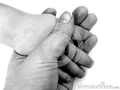 Mani della holding