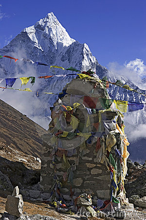 Mani stone in the Himalaya