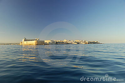 The Maniace castle from the sea