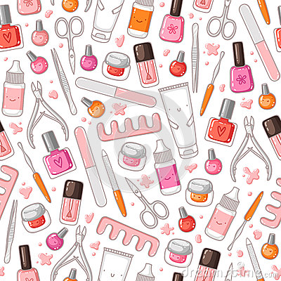 Free Manicure Pattern Royalty Free Stock Photos - 38830858