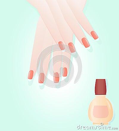 Manicure and polish