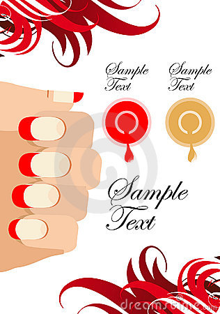 Manicure process illustrations