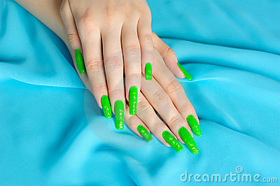 Manicure on real nails