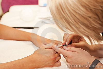 Manicure treatment in Beauty Spa Saloon