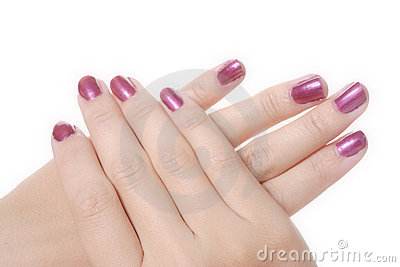 Manicured female hands