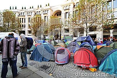 Manifestantes de Londres Imagen editorial