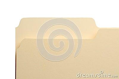 Manila File Folder Tab