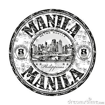 Manila grunge rubber stamp