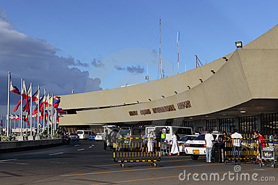 Manila International Airport departure Editorial Stock Photo
