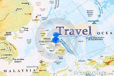 Manila on a map
