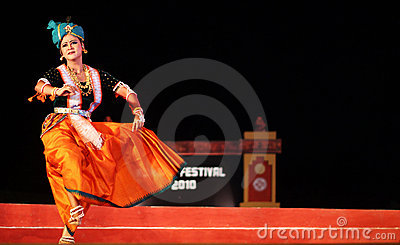 Manipuri Dance in konark Festival 2010 Editorial Image