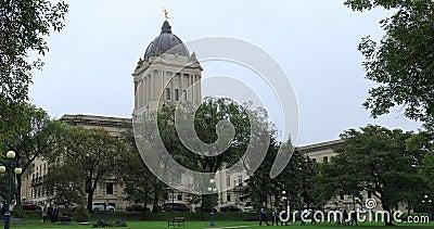 Manitoba Legislature Building a Winnipeg, Canada 4K archivi video