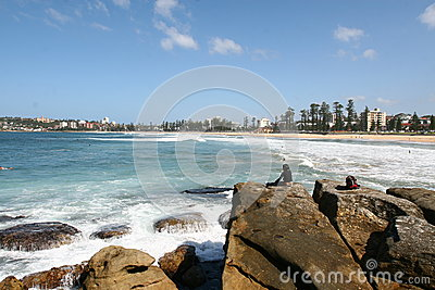 Manly Beach Editorial Stock Image