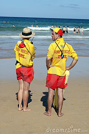 Manly Beach Lifeguards Editorial Stock Photo