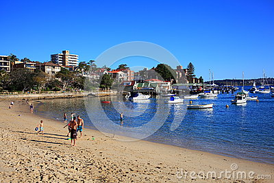 Manly Cove beach Sydney Editorial Stock Photo