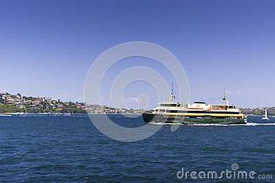 Manly Ferry on a bright sunny day
